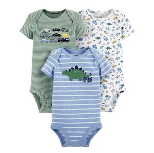 CARTER'S Lot of 3 Preemie Baby Boy New Onsies NWT